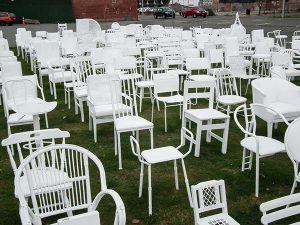 185 White Chairs memorial