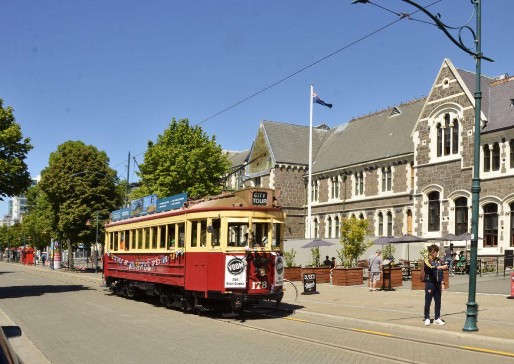 Tram outside Arts Centre